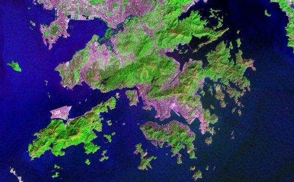 Topographical satellite image