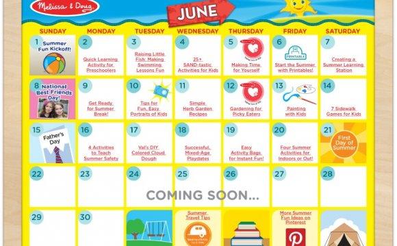 Summer Calendar June Week 3