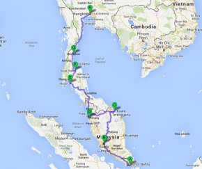 backpack overland travel bangkok singapore south east asia