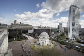 BIRMINGHAM, UK - View of Centenary Square.