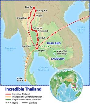 Incredible Thailand tour itinerary