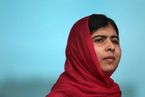 Malala Yousafzai, an advocate of women and childrens' right to an education in Pakistan, was shot in the head by a Taliban gunman in 2012.