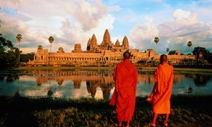 Monks by Angkor Wat