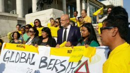 Protesters gather for the Bersih 4 rally in Mongolia. – Global Bersih Twitter pic, August 29, 2015.