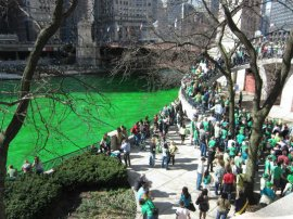 St Patrick's Day Chicago green river