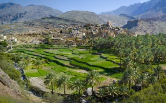 Stunning landscapes at Bilad Sayt Village, Oman