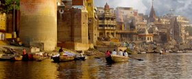 Varanasi is the holiest city in all of India for the Hindu and Jain religions, and Buddhism was founded near here too.