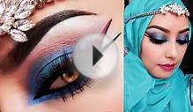 Asian Bridal Look Blue and Red Inspiration Makeup Tutorial