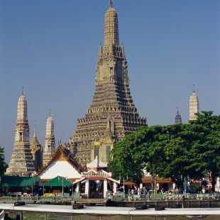 Wat Arun, a temple in Bangkok
